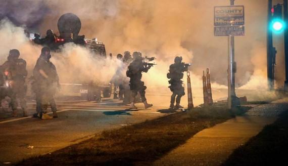 Ferguson Protests Police Riot Gear