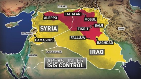 ISIS Map Iraq Syria