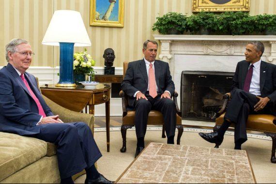 Mitch McConnell John Boehner President Obama
