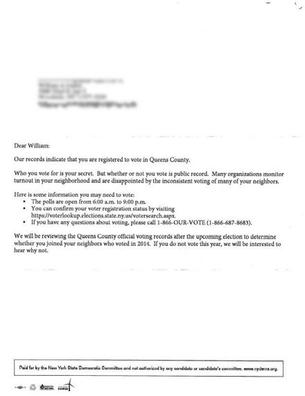 Voter Letter