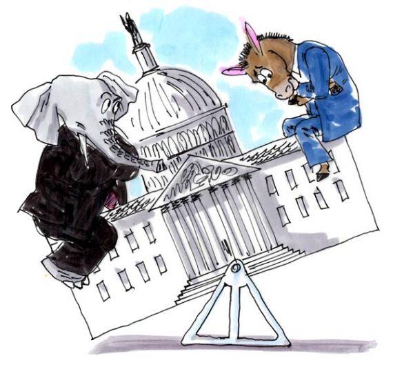 election-republican-democrat-see-saw