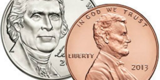 U.S. Government Losing $100,000,000 Per Year On Nickel And Penny Production