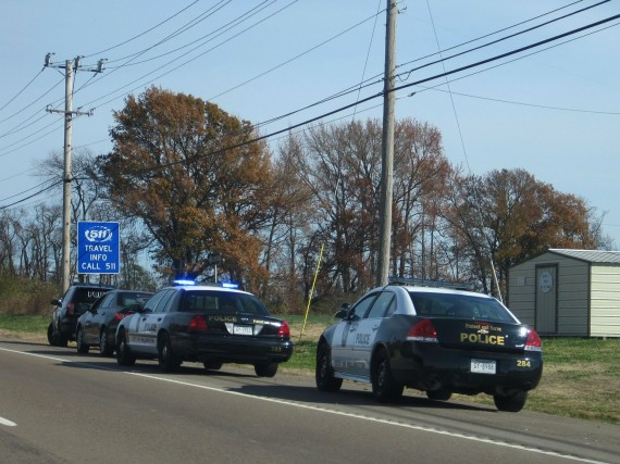 Police Cars Traffic Stop