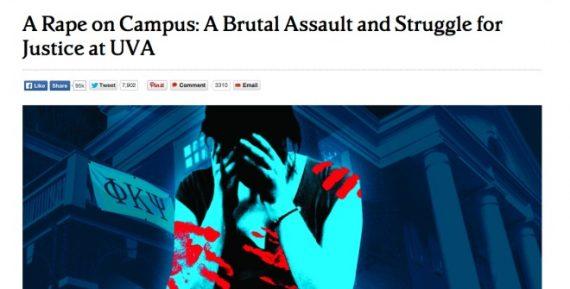 Rolling Stone Rape UVa Headline
