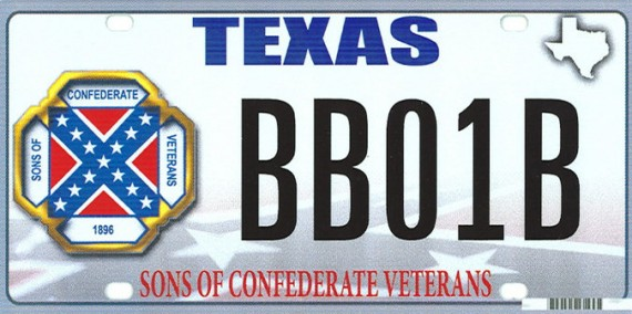 Texas Confederate License Plate
