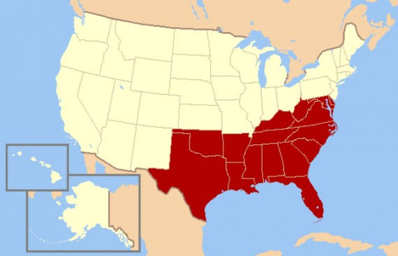 Us_south_census