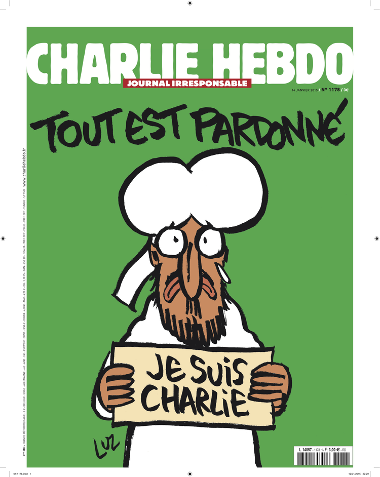 Next Charlie Hebdo Cover Has Muhammad Saying Je Suis Charlie