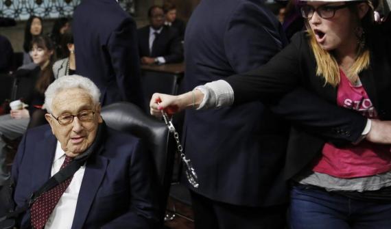 Code Pink Scum interrupt Henry Kissinger