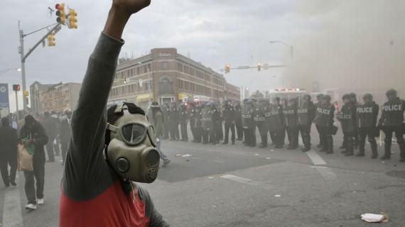 Baltimore Police Protester
