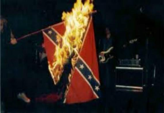 Burning Confederate  Flag