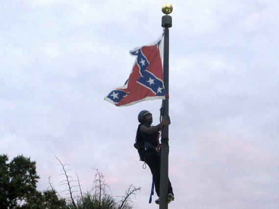 Confederate Flag Protester