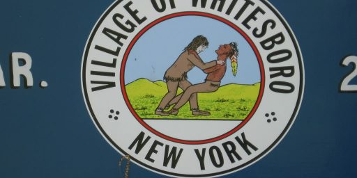 New York Village Votes To Keep Logo That Appears To Show White Guy Choking Native American