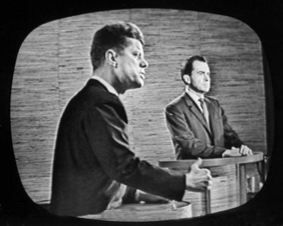 2nd televised debate between Richard M. Nixon & John F. Kennedy (L) (Photo by Paul Schutzer/The LIFE Picture Collection/Getty Images)