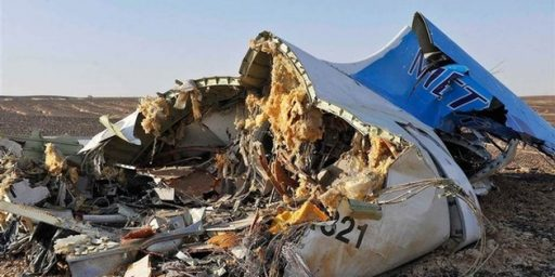 U.S. Intelligence: Russian Passenger Jet Likely Brought Down Over Sinai Peninsula By A Bomb