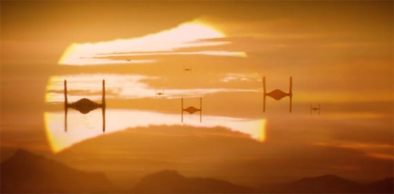 Tie Fighters Sunset