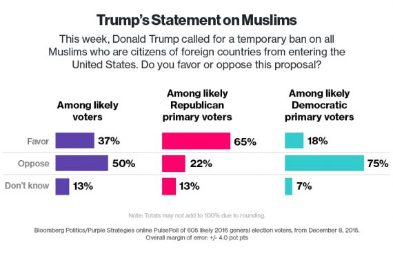 Bloomberg GOP Muslim Poll One