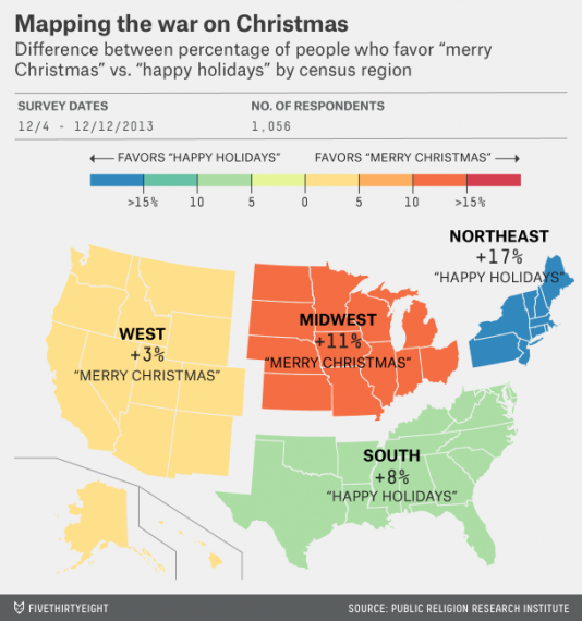 Merry Christmas Happy Holidays Map