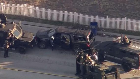 San Bernardino Shoot SUV Cops