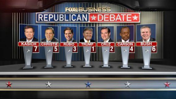Fox Debate Lineup