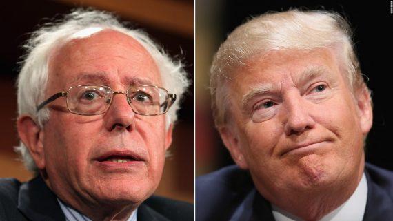 Bernie Sanders Donald Trump