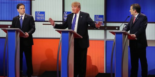 Trump, Cruz, and Rubio Continue to Exchange Attacks In Eleventh Republican Debate