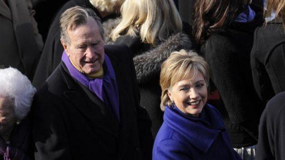 Bush 41 Hillary