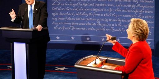 Clinton And Trump Clash In First Presidential Debate