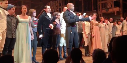 Vice President-Elect Pence Visits Broadway, Gets A Post-Performance Message