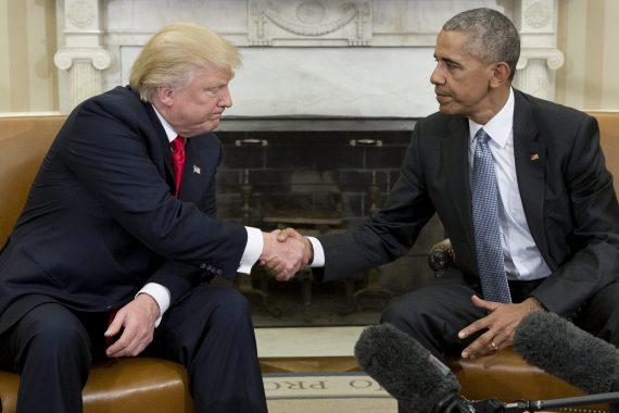 Trump Obama Handshake