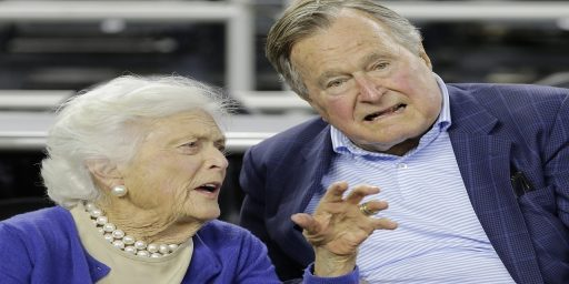 George And Barbara Bush Hospitalized
