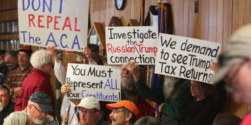 Town Hall Protests Continue, But Will It Translate Into Election Results?