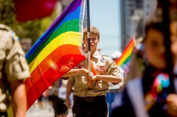 Boy Scout Rainbow Flag