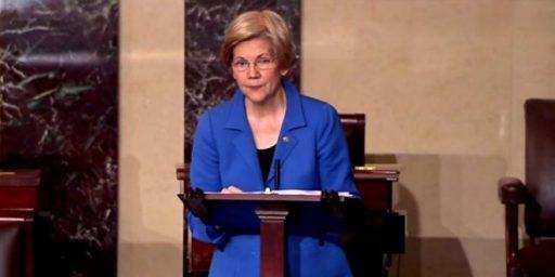 Senator Elizabeth Warren Silenced By Senate During Debate On Sessions Nomination