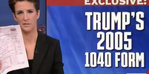 Rachel Maddow Hypes Trump's 2005 Tax Return, But There's No Real News There