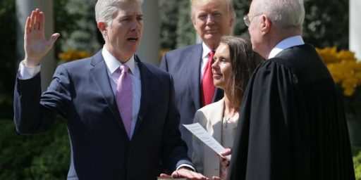Neil Gorsuch Sworn In As Associate Justice Of Supreme Court