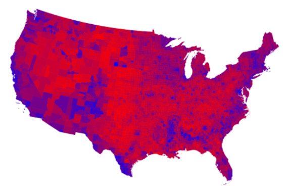 2016 County Map Purple