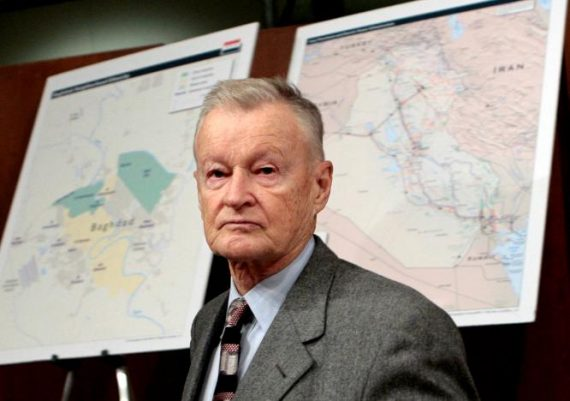 FILE PHOTO - Former U.S. National Security Adviser Zbigniew Brzezinski arrives to testify before the Senate Foreign Relations Committee on Capitol Hill in Washington, February 1, 2007. REUTERS/Jim Young/File Photo