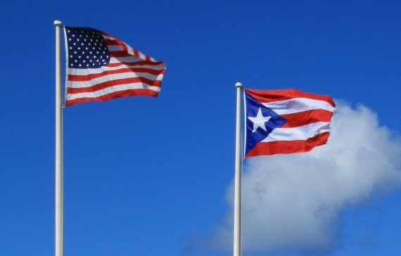 U.S. and Puerto RIcan Flags