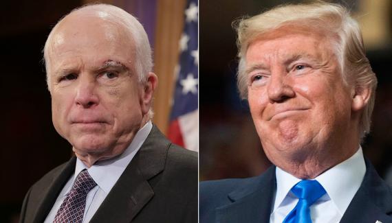 John McCain Donald Trump