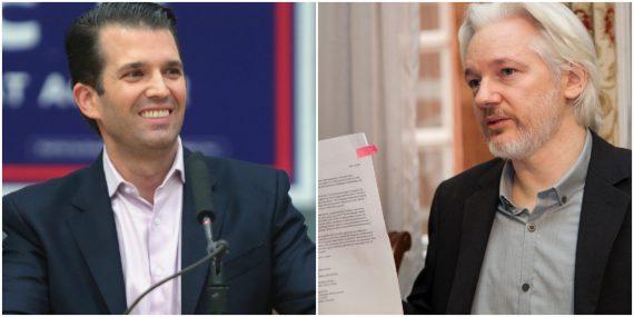 Donald Trump Jr and Julian Assange
