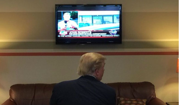 Trump Watching Television