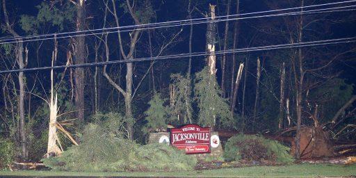 Tornado Hits Jacksonville, Alabama