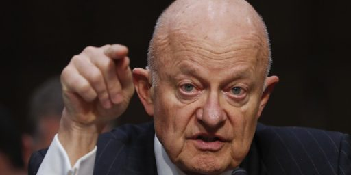 James Clapper Not Charged with Lying to Congress
