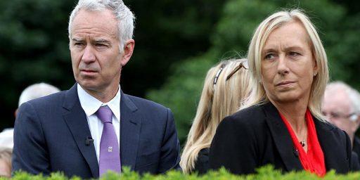 BBC Pays John McEnroe 10 Times What it Pays Martina Navratilova