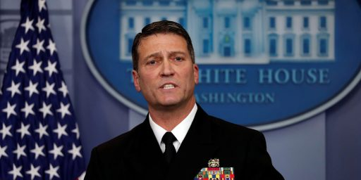 Ronny Jackson's Nomination Becomes More Imperiled As Accusations Mount