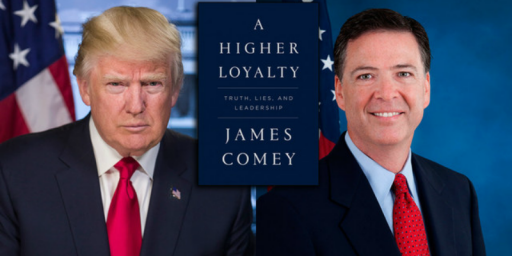Trump Unloads A Tweetstorm On The Eve Of James Comey's Book Tour