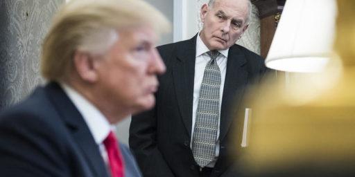 "Report Says John Kelly Called Trump An ""Idiot."""