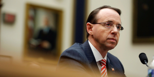 House Conservatives Want To Impeach Rod Rosenstein For Some Reason