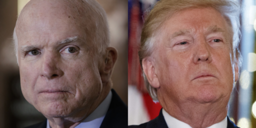 Trump Reportedly Nixed White House Plans For Laudatory Statement About McCain