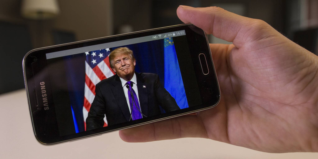 Trump will TEXT almost every cell phone in the country next week